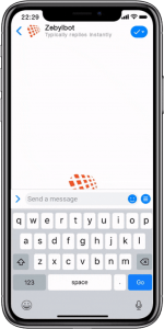 Zebyl Text Messaging for Business on iPhone